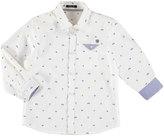 Mayoral Long-Sleeve Logo-Print Button Down Sport Shirt, Size 3-7