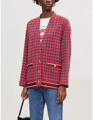 Sandro Tweed wool-mix double-breasted jacket