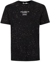 Topman Black Acid Wash Printed T-shirt
