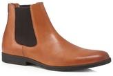 J By Jasper Conran Tan 'bentley' Chelsea Herringbone Panel Boots