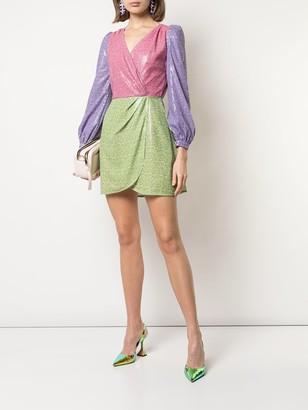 Olivia Rubin contrast mini dress