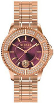 Versus SH7290016 Tokyo Crystal rose-gold plated stainless steel watch