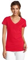 Dickies Juniors' Solid Cap-Sleeve V-Neck T-Shirt
