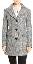 Gallery Notch Collar Tweed Coat (Regular & Petite)