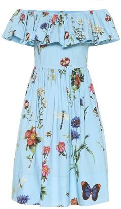 Floral stretch-cotton minidress