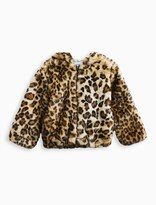 Splendid Little Girl Leopard Faux Fur Hoodie