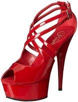 Pleaser USA Women's Delight-612/R/M Platform Sandal