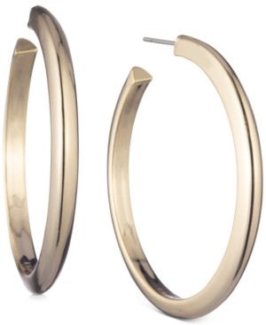 """DKNY Gold-Tone Large Thick Hoop Earrings, 2.3"""""""