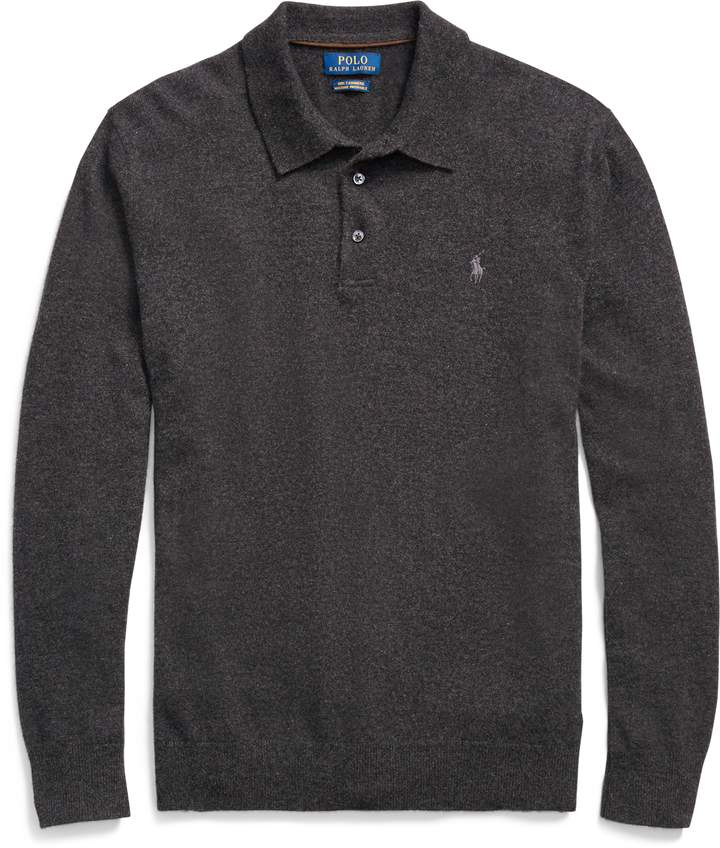 Ralph Lauren Washable Cashmere Polo Sweater