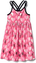 Gap Print crisscross strap dress