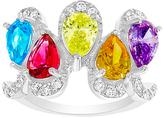 Bliss Multicolor Cubic Zirconia & Sterling Silver Teardrop Ring