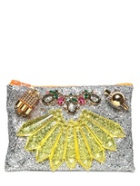 Mawi Glitter With Crystals Pouch