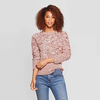 Universal Thread Women's Long Sleeve Crew Neck Raglan Pullover Sweater