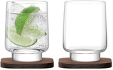LSA International City Bar Tumbler & Walnut Coaster