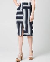 Le Château Stripe Viscose Midi Skirt