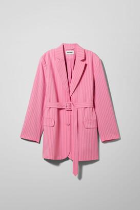 Weekday Jean Pinstripe Blazer - Pink