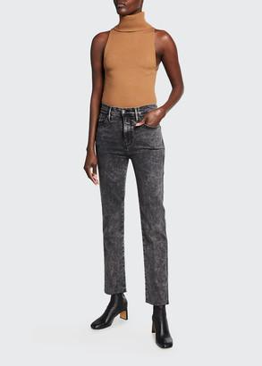 Frame Le Sylvie Straight Raw-Edge Jeans