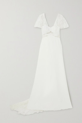 Rime Arodaky Kiss Embroidered Tulle And Crepe Gown - White