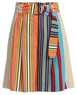 Akris Punto Parasol Stripe Shorts