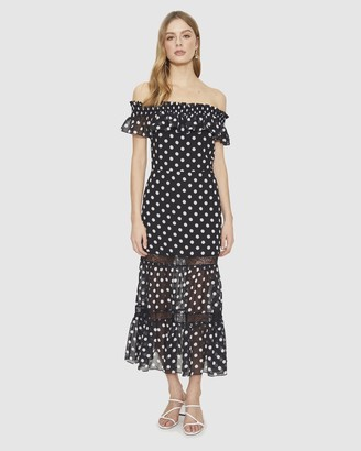Cooper St Hearten Off-Shoulder Midi Dress