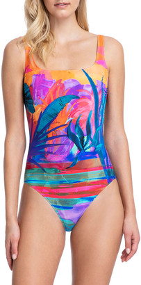 Gottex Indian Summer Square-Neck One-Piece Swimsuit
