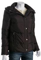DKNY dark plum poly down hooded 'Sidney' jacket