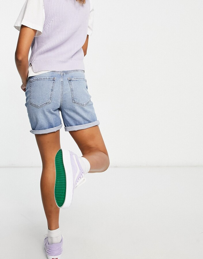 Thumbnail for your product : New Look boyfriend denim short in blue