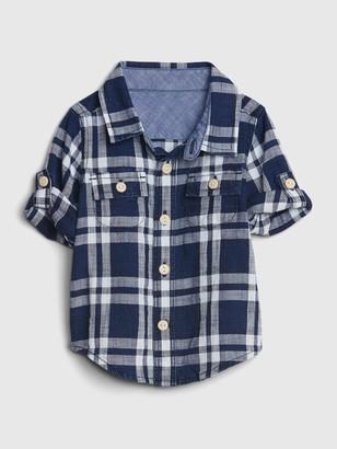 Gap Baby Plaid Shirt
