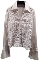 Escada White Cotton Top for Women