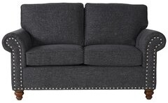 Thumbnail for your product : Alcott Hill Hamza Round Arm Loveseat with Reversible Cushions