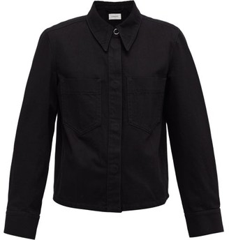Lemaire Garment-dyed Cotton-twill Overshirt - Womens - Black