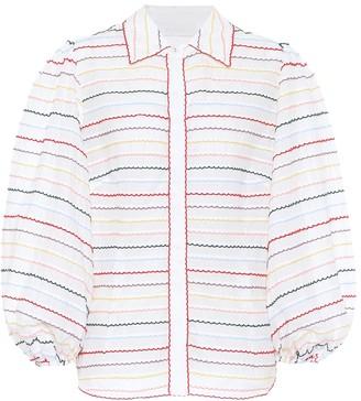 Zimmermann Zinnia striped cotton shirt
