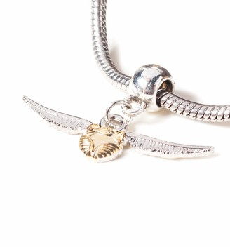 The Carat Shop Silver Plated Harry Potter Golden Snitch Slider Charm