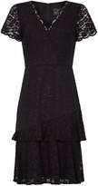Adrianna Papell Felicity Lace Flounce Dress