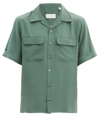 Equipment Short-sleeved Silk-crepe Shirt - Dark Green