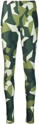 Comme des Garcons Junya Watanabe Pre-Owned '2000s graphic print leggings