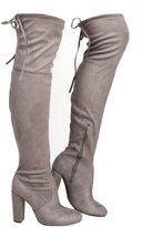 IKRUSH Women's Ladies Stunning Faux Suede Knee High Boots
