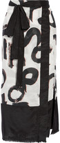 Proenza Schouler Printed cotton and silk-blend pareo