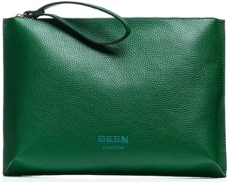 Been London Hoxton Clutch in Rainforest Green