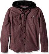 Zoo York Men's Long Sleeve Hooded Woven Shirt