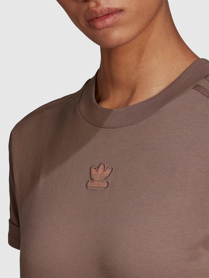 adidas New Neutral Crop T-Shirt - Brown