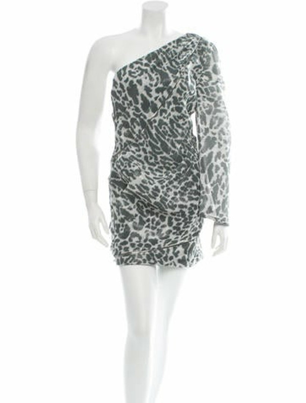 Jay Ahr One-Shoulder Dress w/ Tags Grey