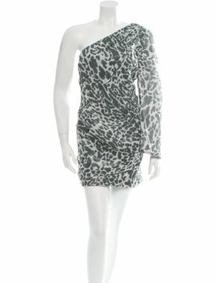 Jay Ahr One-Shoulder Dress w/ Tags Grey
