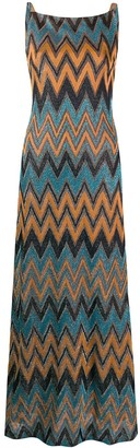 M Missoni Zigzag square front dress