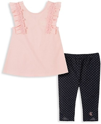 Calvin Klein Baby Girl's Tank Top Legging 2-Piece Set