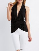 Charlotte Russe Draped Plunge Tank Top