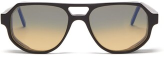 L.g.r Sunglasses - Asmara Explorer D-frame Acetate Sunglasses - Black Yellow