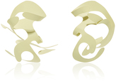 Rosie Assoulin Roxanne Assoulin for Plantain Yellow Large Sculptural Earrings