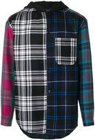 Alexander Wang hooded tartan shirt - men - Polyester/Wool - XS