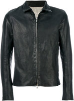 A Diciannoveventitre slim-fit leather jacket